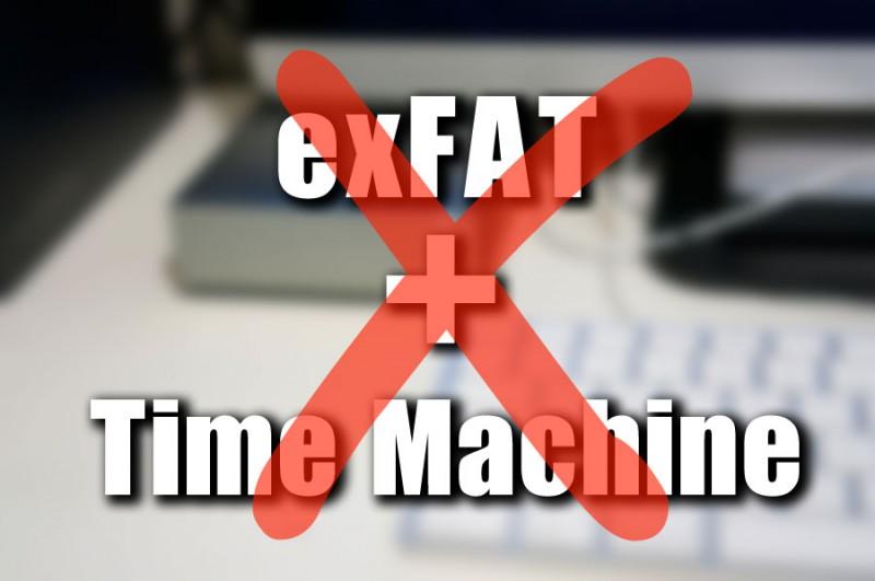 【Mac】万能フォーマットかと思われたexFatに弱点発覚!TimeMachineで読めないぞ!