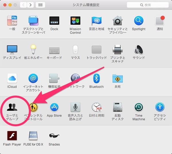 【OSX Yosemite】Mac起動(ログイン)時に自動で開くアプリケーションを指定する方法